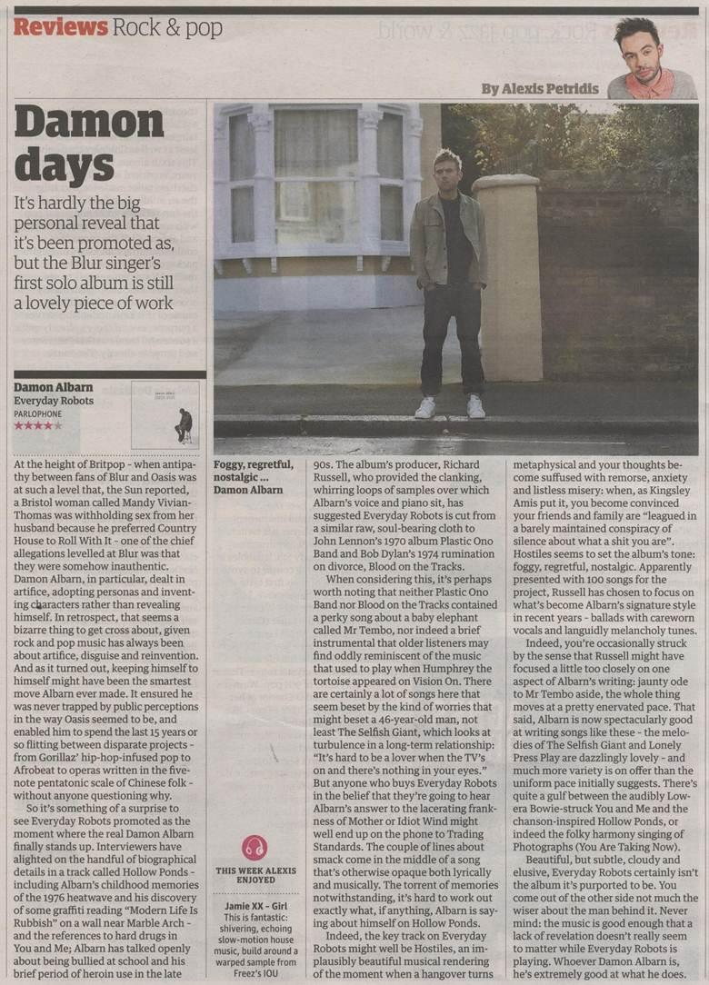 The Guardian <br/> 25 April 2014