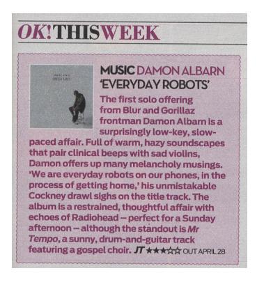 OK! Magazine <br/> 29 April 2014