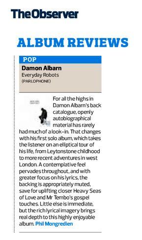 The Observer <br/> 27 April 2014