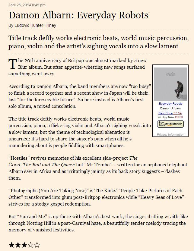 Financial Times <br/> 25 April 2014