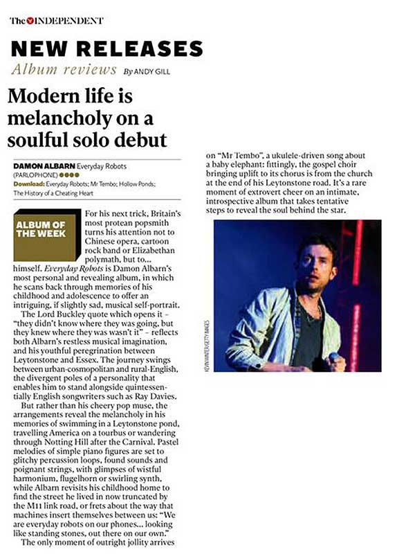 The Independent <br/> 19 April 2014