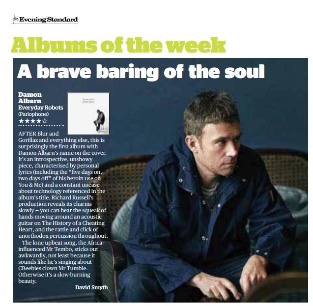 Evening Standard <br/> 25 April 2014
