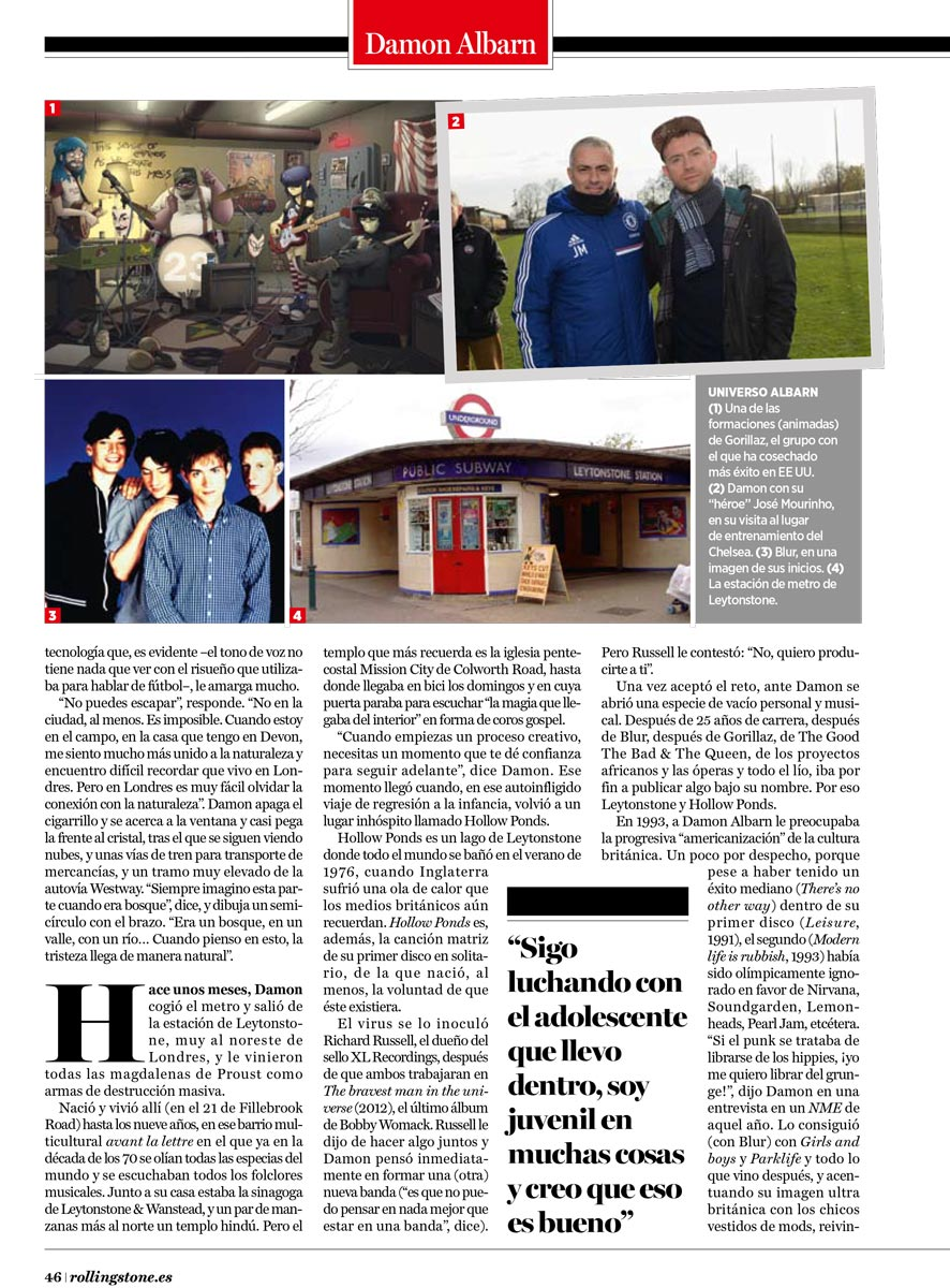 Interview with Rolling Stone Spain <br/> April 2014